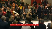 """""""Les vraies réformes elles vont avec les contraintes, les enfants"""", lance Macron lors d'un débat citoyen"""
