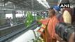 CM योगी आदित्यनाथ ने एक्वा लाइन मेट्रो का उद्घाटन किया,UP chief minister inaugurates Aqua Line Metro
