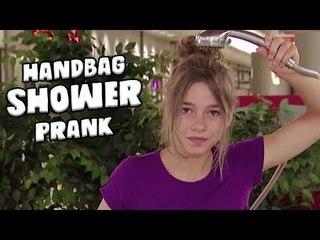 Girl Showers In HANDBAG Prank!