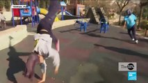 Bouncing off the walls: Iranian women practise parkour to overcome obstacles