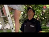 Firefighter Looks Up Woman's Skirt