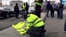 Nouvelle manifestation des chauffeurs de VTC à Paris