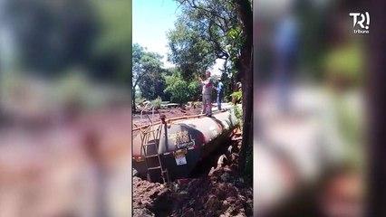 População filme os estragos causados após rompimento da barragem de Brumadinho