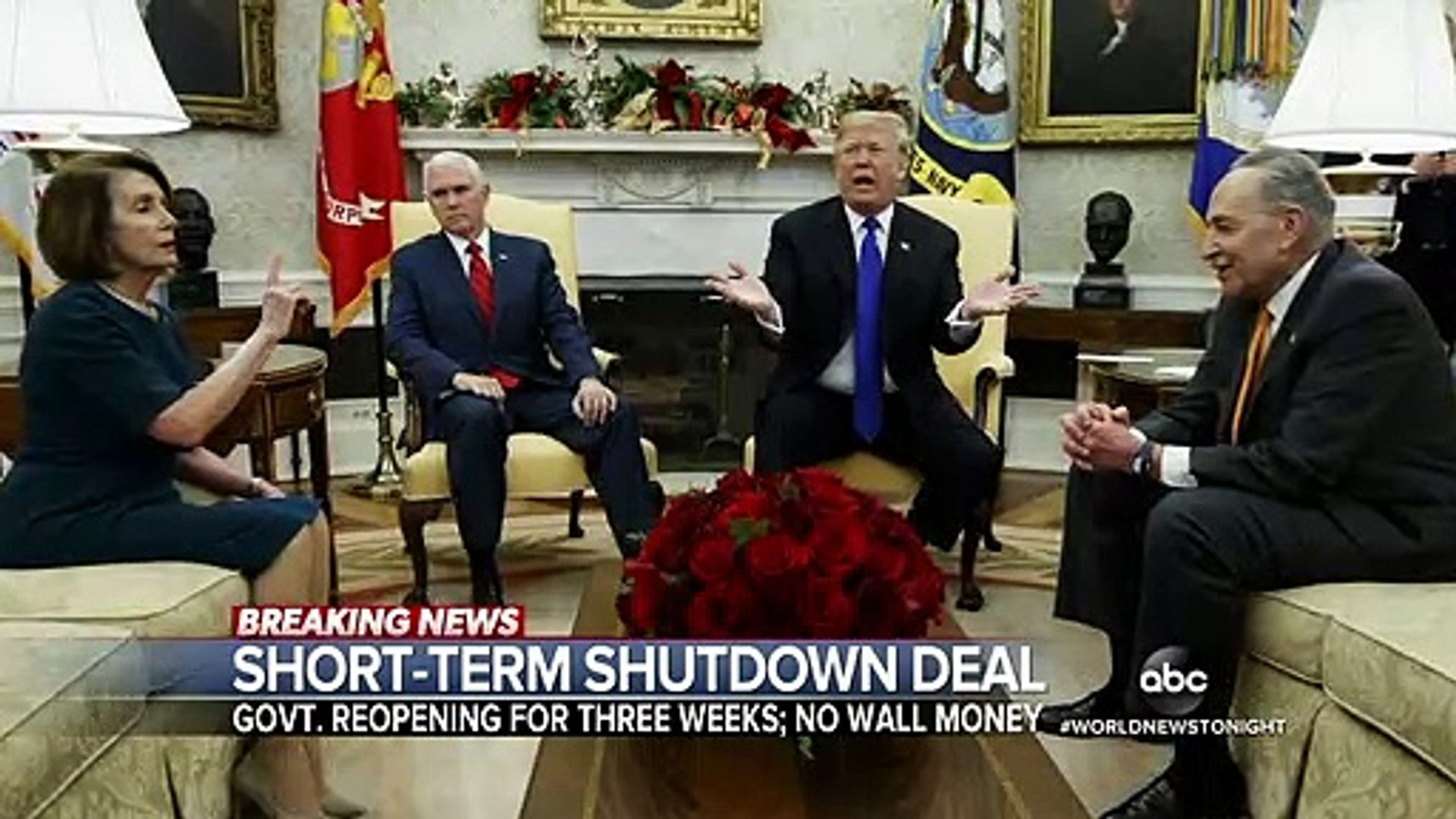 Trump announces END to government shutdown, but says it's not over yet…