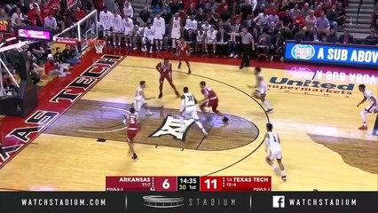 Arkansas vs. No. 14 Texas Tech Basketball Highlights (2018-19)