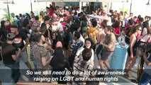 Myanmar's first LGBT Pride boat parade takes to Yangon river