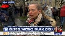 """Clémence, référente """"foulards rouges"""" affirme: """"le mouvement est apolitique"""""""