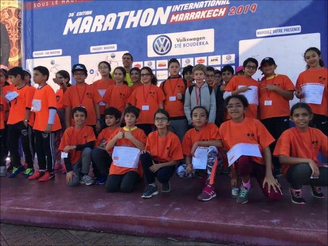 Relais USEP du semi-marathon de Marrakech 2019