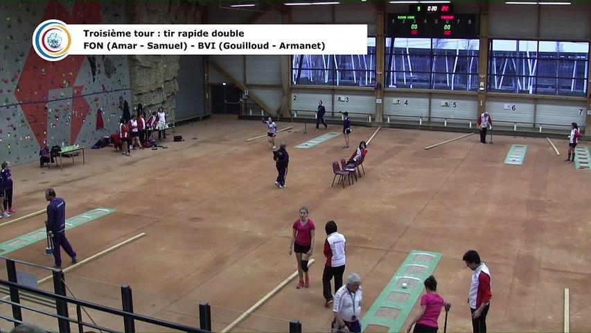 Troisième tour, tir rapide en double, France Club Elite 1 Féminin, J3 groupe Titre,  Bievre Isère contre Fontaine,  saison 2018/2019