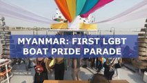 Myanmar celebrates its first ever LGBT Pride boat parade