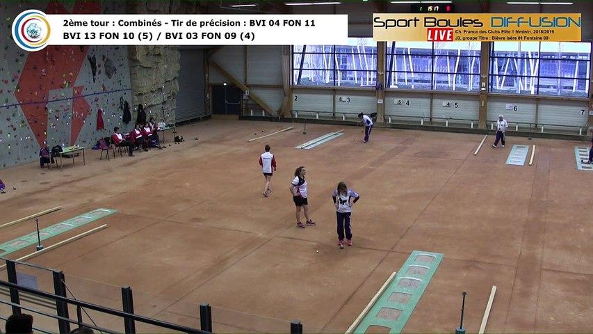 Second tour, premier tir de precision, France Club Elite 1 Féminin, J3 groupe Titre,  Bievre Isère contre Fontaine,  saison 2018/2019