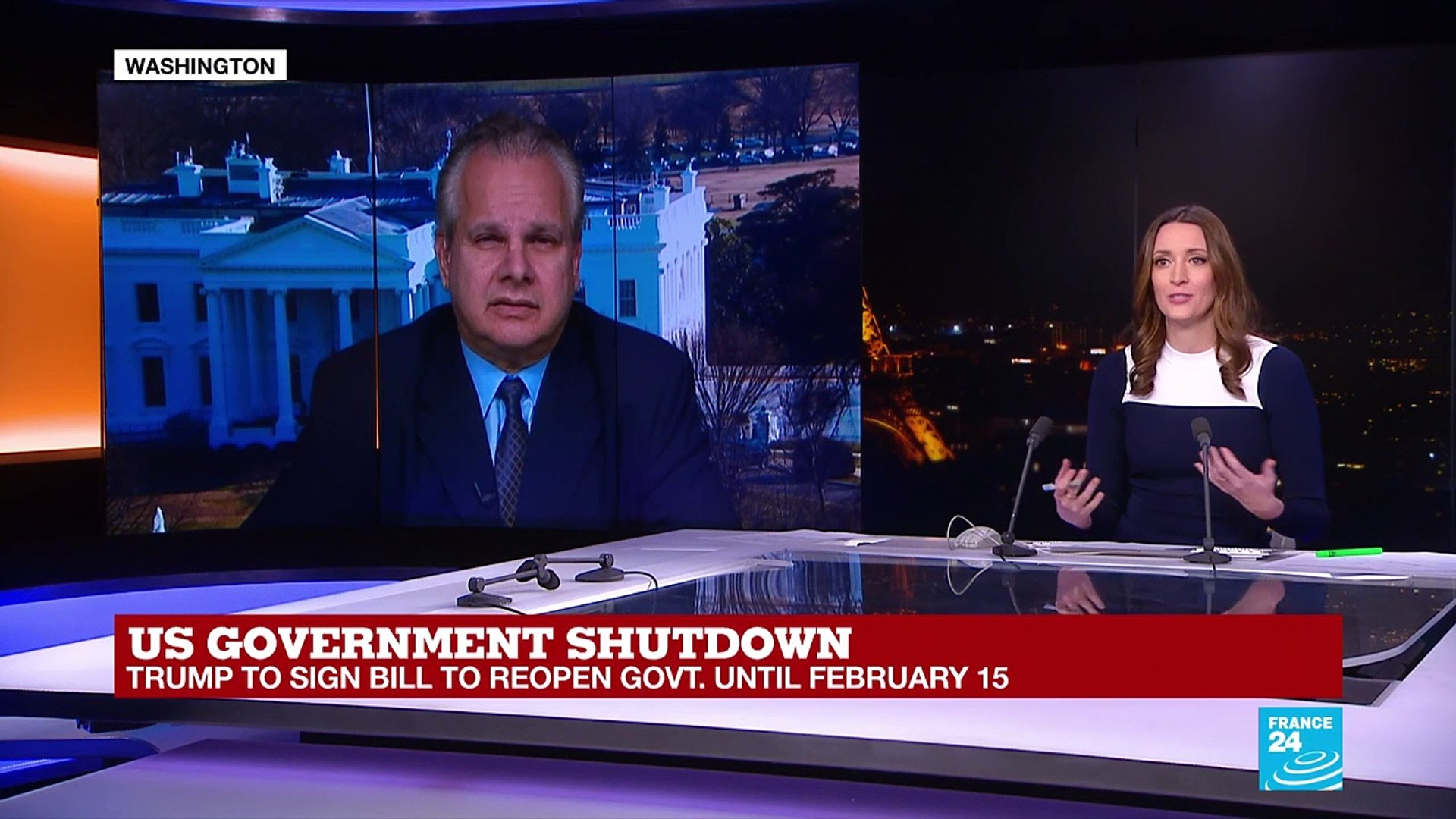 US Gouvernement shutdown: Trump to sign bill to reopen govt. until February 15