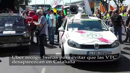 Uber recoge firmas para evitar que las VTC desaparezcan en Cataluña