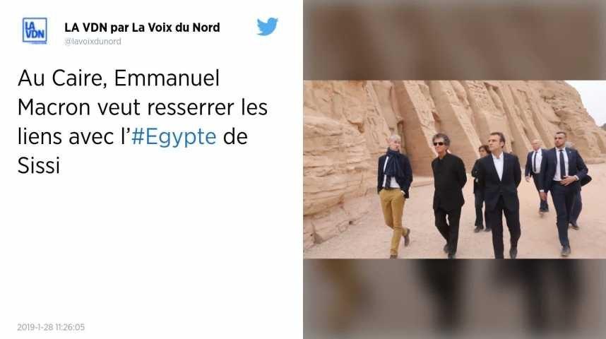 Emmanuel Macron au Caire pour resserrer les liens avec l'Égypte de Sissi