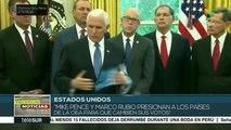 Arreaza: Pence presiona a países de la OEA para que cambien su voto
