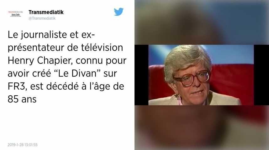 Télévision. Henry Chapier, animateur de la célèbre émission Le Divan, est mort