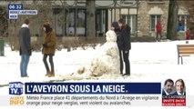 Plus de 15 centimètres de neige en Aveyron
