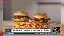 Get free bacon at McDonald's for an hour on Tuesday