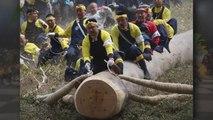 Onbashira Festival 2019 - Japan Log Ride