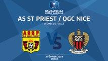 COUPE GAMBARDELLA-CA I 16e de finale - AS St-Priest / OGC Nice - 03/02/19