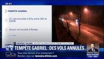 Tempête Gabriel: 21 vols sont annulés à Orly entre 20h et 23h30