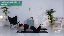 Plancha a flexión sobre las rodillas (mujer)