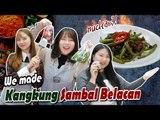 Korean girls make Kangkung Sambal Belacan & Nasi Lemak! l Blimey Cooking