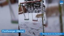 Réveil sous la neige dans la Marne et les Ardennes