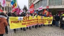 Manifestation intersyndicale des retraités du Calvados