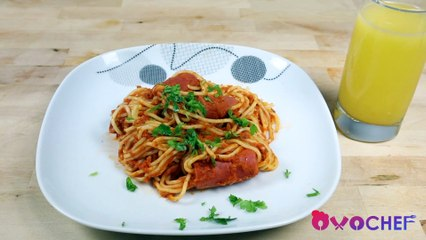 Spaghetti with Hot Dogs Recipe