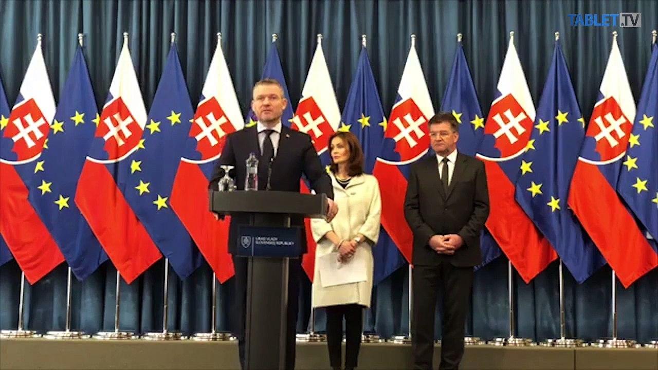 ZÁZNAM:TK P. Pellegriniho, A. Kalavskej a M. Lajčáka po rokovaní vlády