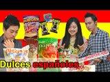 Coreanos Probando Dulces Españoles (Con Lina Woo)