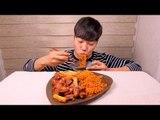 지코바 & 불닭볶음면 이팅사운드ASMR *말없음   Spicy chicken & Spicy noodles Eating Sound ASMR *No talking