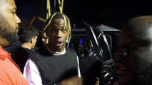Backstage with Travis Scott at Rolling Loud Bay Area