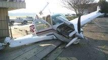 Geisterflugzeug rast an Flughafen in Zaun