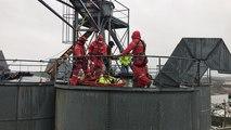 Exercice de sécurité dans un silo à grains avec le Grimp et l'entreprise Silonet