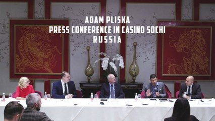 WPT CEO Adam Pliska holds Press Conference in Russia