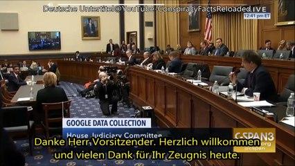 Google CEO Ausschussanhörung über PizzaGate-Videos auf YouTube. (Deutsch)