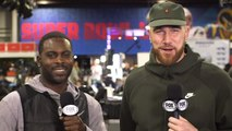 Chiefs TE Travis Kelce chats with Michael Vick about AFC Championship Game, Patrick Mahomes