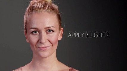 apply blusher