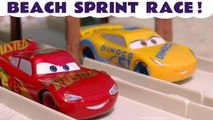 Cars Hot Wheels Race Off at the Beach with Marvel Avengers 4 and DC Comics Superheroes, PJ Masks Catboy and Spongebob Squarepants along with Disney Pixar Lightning McQueen and Jackson Storm - A fun family friendly full episode English story for kids