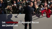 Les confidences d'Emmanuel Macron aux journalistes
