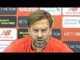 Jurgen Klopp Full Pre-Match Press Conference - Liverpool v Leicester - Premier League