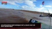 Un kitesurfeur britannique fait le buzz avec un saut incroyable (vidéo)