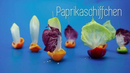 Augenschmaus - Vitamine in Sicht: Paprikaschiffchen