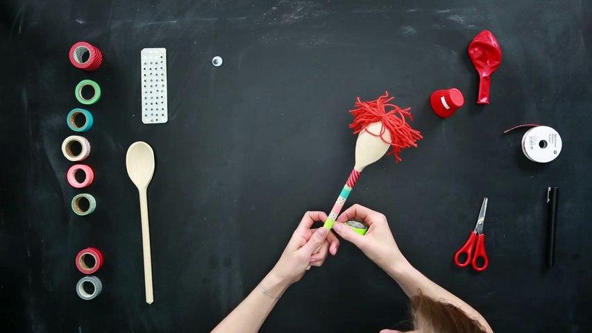 Marionetas de cucharas de cocina