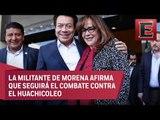 Yeidckol Polevnsky minimiza amenazas contra López Obrador