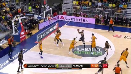 EuroLeague 2018-19 Highlights Regular Season Round 21 video: Gran Canaria 104-106 Milan