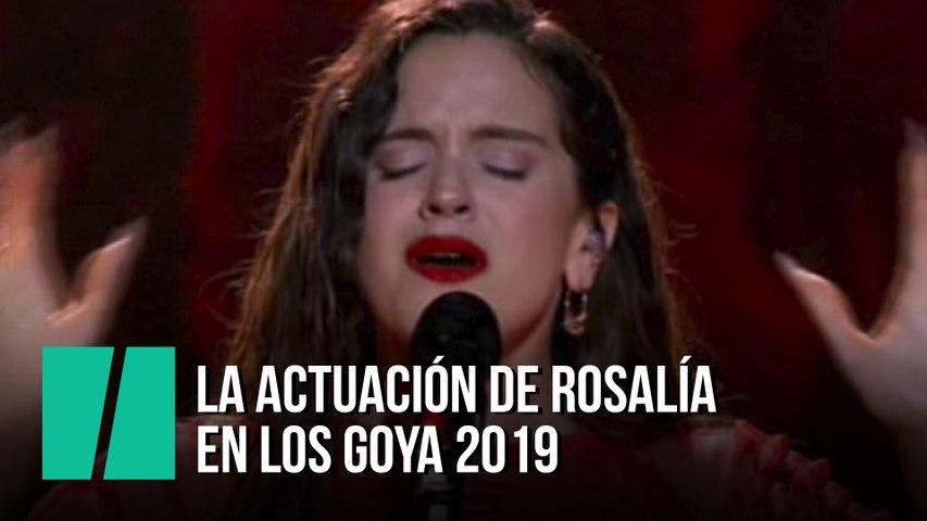 La actuación de Rosalía en los Goya 2019