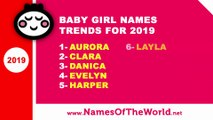 Top 10 baby girl names 2018 - the best baby names - www